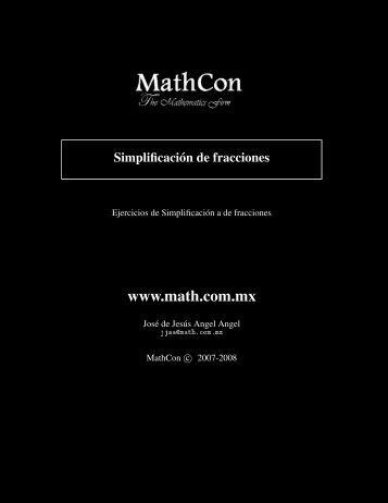 Ejercicios resueltos sobre simplificación de ... - Math.com.mx