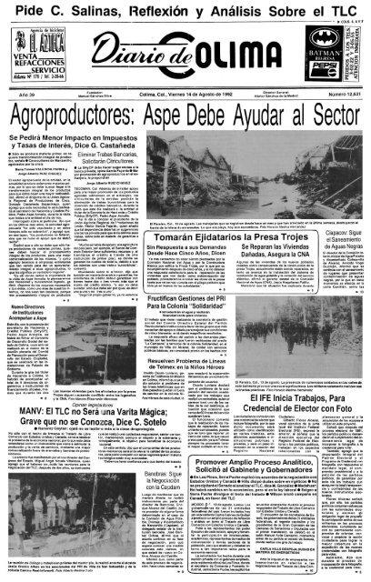 Agroproductores Aspe Debe Ayudar Al Sector Universidad De