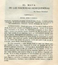 EL MAYA DE LAS HACIENDAS HENEQUENERAS - Biblioteca ...
