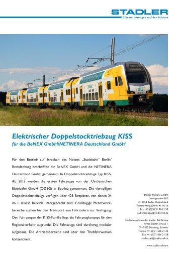 Elektrischer Doppelstocktriebzug KISS für die Benex ... - Stadler