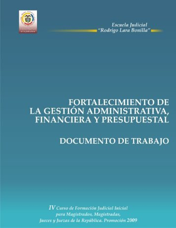 Fortalecimiento de la Gestión Administrativa, Financiera y ...