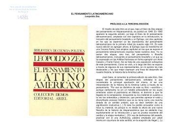 El Pensamiento Latinoamericano
