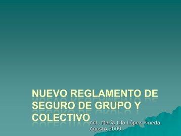 Nuevo Reglamento de Seguro de Grupo y Colectivo - Colegio ...