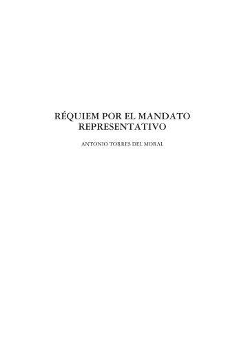 RÉQUIEM POR EL MANDATO REPRESENTATIVO - e-Spacio - Uned