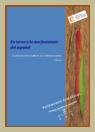 En torno a la morfosintaxis del español - Facultad de Filosofía y ...