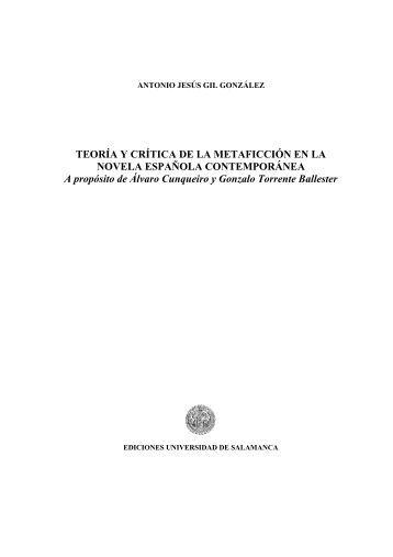 Teoría y crítica de la metaficción en la novela española - Gredos ...