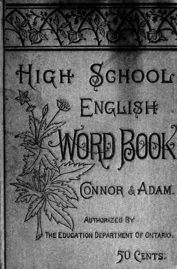The High school English word-book : a manual of orthoepy ...