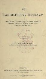 English-Tibetan Dictionary - Life and Culture on the Tibetan Plateau
