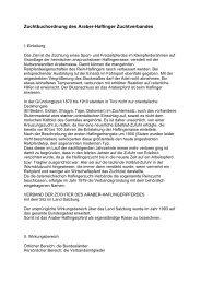 Zuchtbuchordnung des Araber-Haflinger Zuchtverbandes