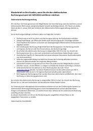 Musterbrief elektronische Rechnung - Praxis EDV