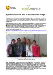 Nyhetsbrev mars/april 2013: Frisklivssentralen i Levanger