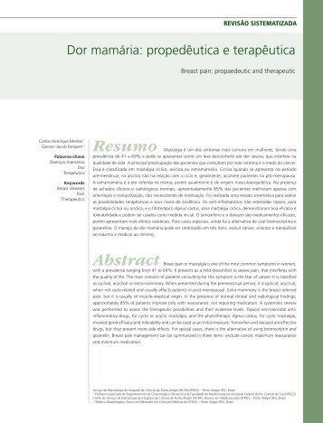 Dor mamária: propedêutica e terapêutica - Febrasgo