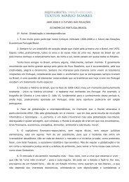 1808-2008 e do futuro das relações económicas Portugal-Brasil