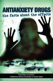 Antianxiety Drugs: The facts about the effects - Citizens Commission ...