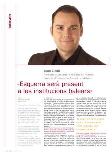 Joan Lladó: 'Esquerra serà present a les institucions