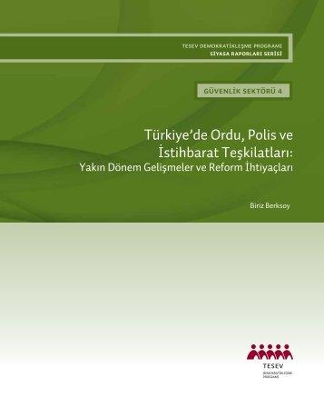 Türkiye'de Ordu, Polis ve İstihbarat Teşkilatları: