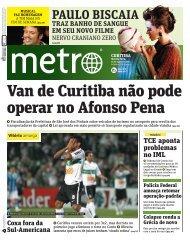 Van de Curitiba não pode operar no Afonso Pena - Metro
