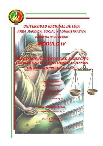 Régimen Jurídico del Derecho Particular y las Obligaciones en el ...