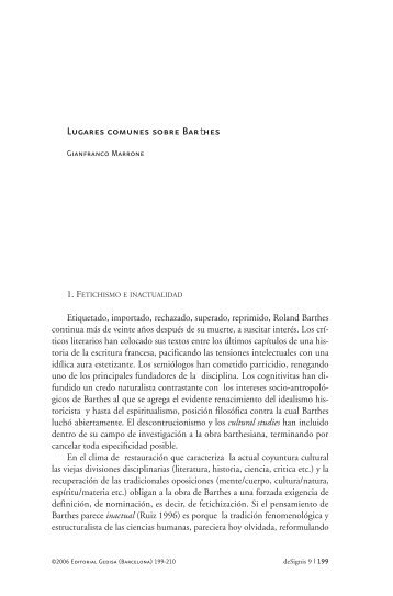 Lugares comunes sobre Barthes - DeSignis