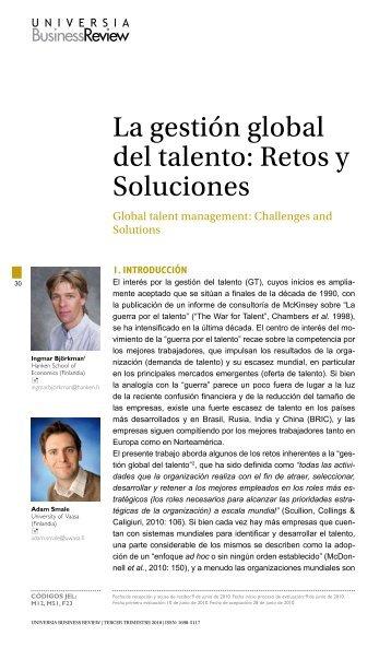 La gestión global del talento - Universia Business Review