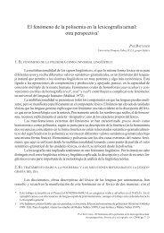 El fenómeno de la polisemia en la lexicografía actual: otra ... - RUC