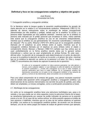 Definitud y foco en las conjugaciones guajiras.pdf - Portal de ...