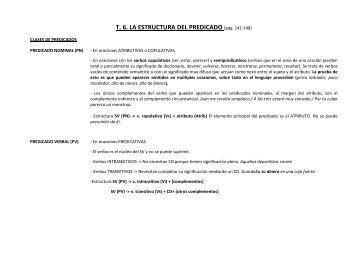 T. 6. LA ESTRUCTURA DEL PREDICADO (pág ... - INS Les Vinyes