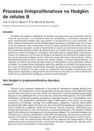 Procesos linfoproliferativos no Hodgkin de células B - revista ...