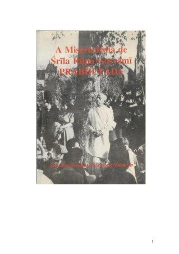 Misericordia de Rupa Goswami - Bhakti Brasil