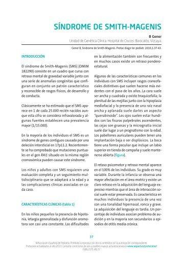 Síndrome de Smith-Magenis - Asociación Española de Pediatría