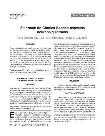 Síndrome de Charles Bonnet: aspectos neuropsiquiátricos