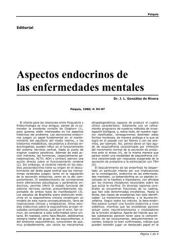 Aspectos endocrinos de las enfermedades mentales - Instituto de ...