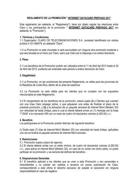 35eec11a225 INTERNET DATACARD PREPAGO 2X1 - Claro