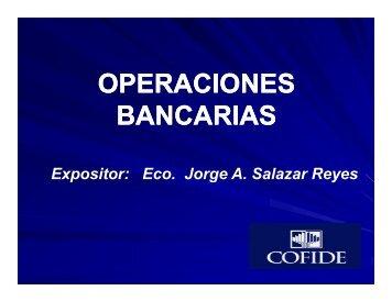 OPERACIONES BANCARIAS - Cofide
