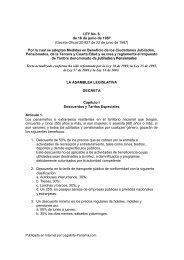 Ley que dicta beneficios para Jubilados, Pensionados y la Tercera ...