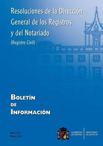 Resoluciones de la Dirección General de los Registros y del ...