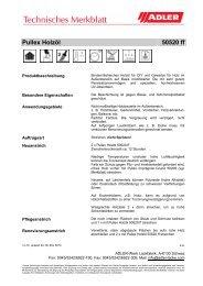 Pullex Holzöl 50520 ff - ADLER - Lacke