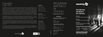 PROGRAMA SINFÓNICO DE OUTONO - Vigocultura