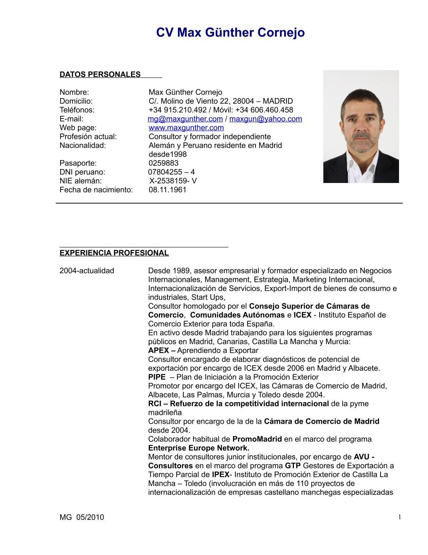 Asombroso Consultor De Negocios Currículum Pdf Bandera - Ejemplo De ...