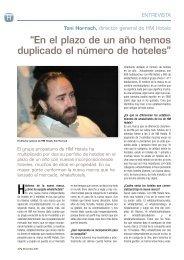 entrevista al director general de HM Hotels, Toni ... - Hosteltur.com