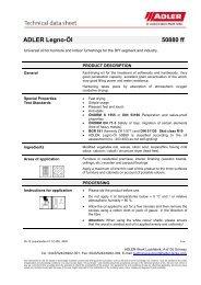 ADLER Legno-Öl 50880 ff - ADLER - Lacke