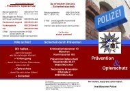 Flyer des Kommissariats 105 - Polizei Bayern