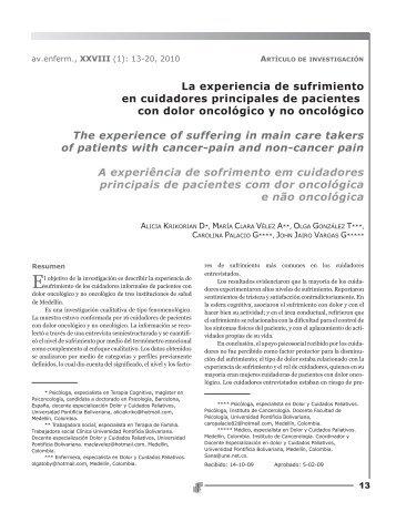A experiência de sofrimento em cuidadores principais de pacientes ...