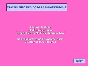 Tratamiento médico de la endometriosis. - SAMeR. Sociedad ...