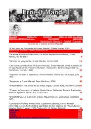 Textos de y sobre Ernest Mandel - Géminis Papeles de Salud