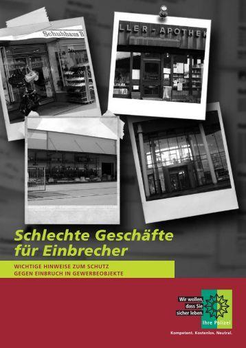 Broschüre für Gewerbetreibende - Polizei Bayern