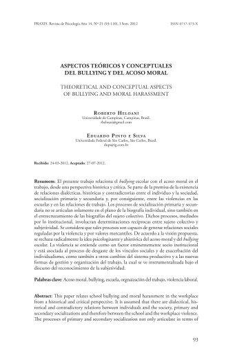 93 aspectos teóricos y conceptuales del bullying y del acoso moral