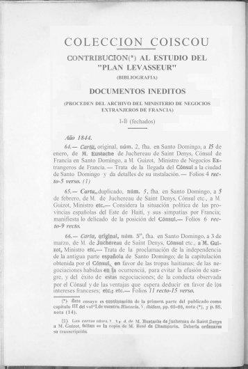 COLECCION COISCOU: CONTRIBUCION AL ESTUDIO ... - BAGN