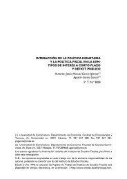 TIPOS DE INTERÉS A CORTO PLAZO Y DÉFICIT PÚBLICO Auto