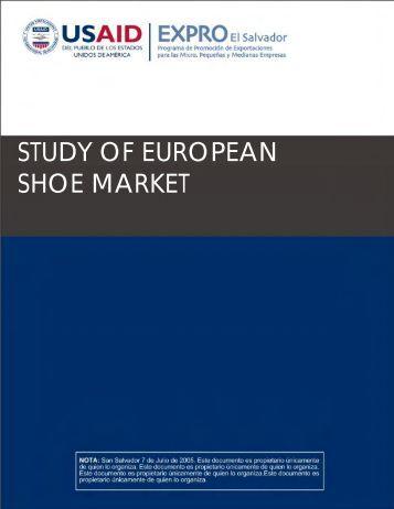 STUDY OF EUROPEAN SHOE MARKET